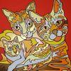 Katze, Liebling, Malerei,