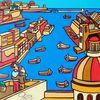 Malta, Hafen, Boot, Malerei