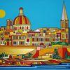 Hafen, Valletta, Malta, Malerei