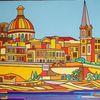 Valletta, Malta, Hafen, Malerei