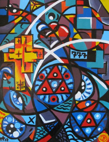 Kreis, Türkis, Dreieck, Blau, Formen, Geometrie