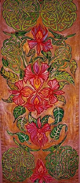 Fantasie blühten blätter, Kunsthandwerk, Holz u, Fantasie,