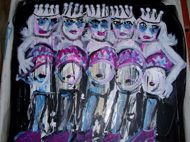 Frau, Königin, Körper, Ölmalerei, Malerei