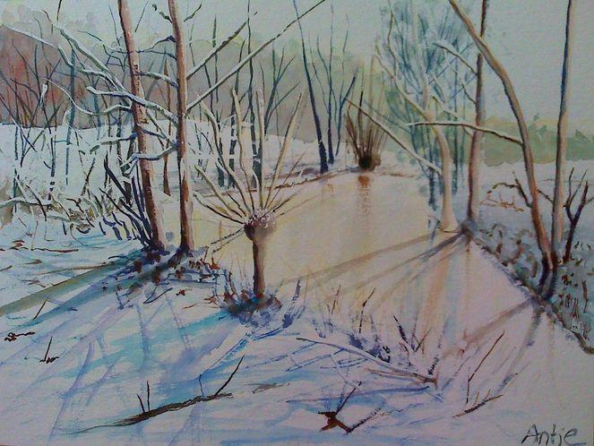 Landschaft, Eis, Winterlandschaft, Fluss, Baum, Natur