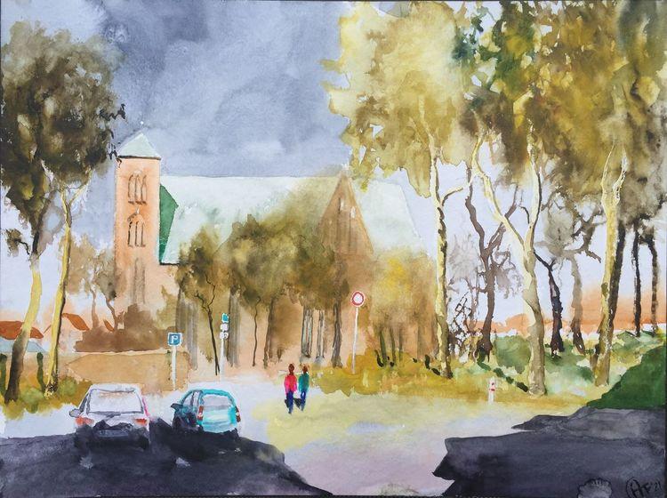 Kirche, Park, Menschen, Stadt, Baum, Dom