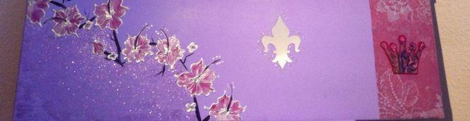 Abstrakt, Violett, Acrylmalerei, Malerei