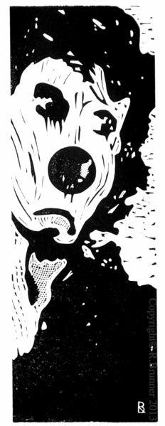 Druckgrafik, Linol, Schwarz weiß, Linolschnitt, Hochdruck, Incisione su linoleum