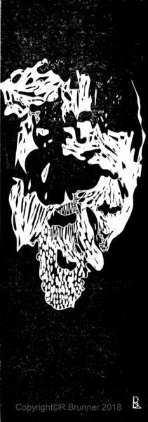Kopf, Schwarz weiß, Gesicht, Druckgrafik