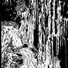 Eisstrasse - Linol, Linolschnitt, Linoldruck, Grafik, Druckgrafik, Hochdruck, Drucktechnik, grafics, lino cut, lino gravure, incisione su linoleum, schwarz, weiss, R. Brunner