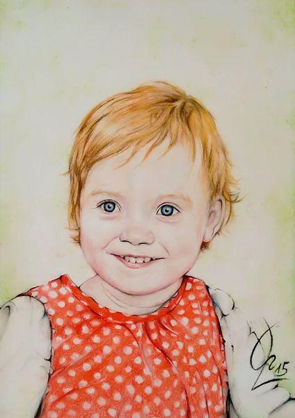 Kleinkind, Portrait, Kind, Blue eyes, Rot, Mädchen