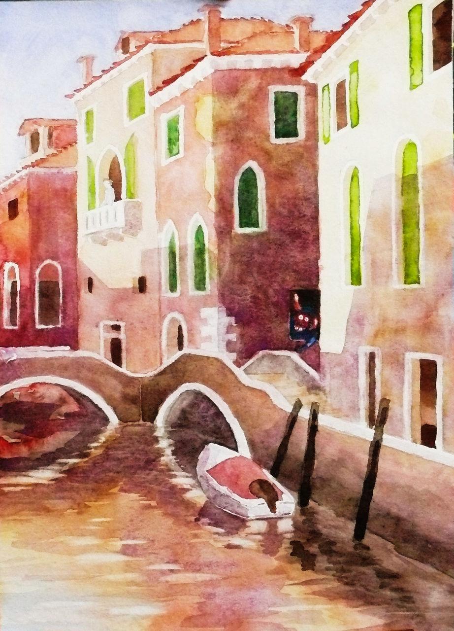 Bild venedig architektur aquarellmalerei aquarell von for Architektur aquarell