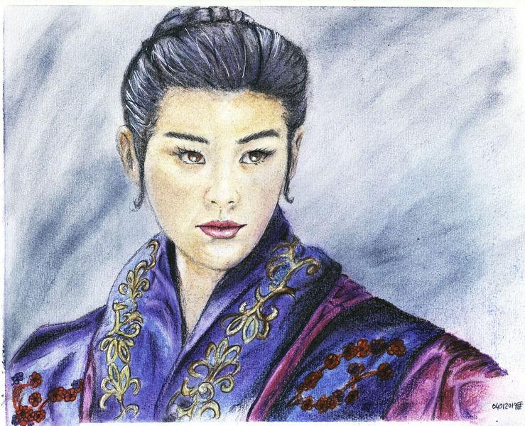 Bunt, Chinesisch, Koreanisch, Asien, Frau, Korean