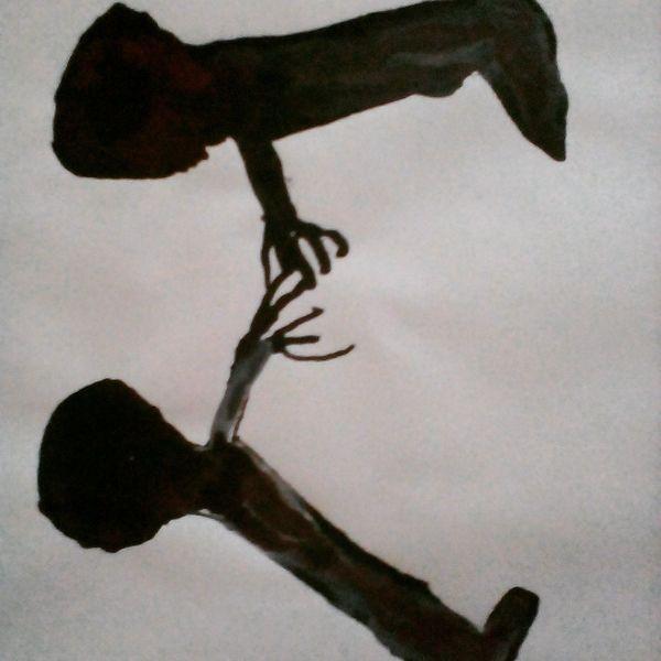 Blut, Hände, Schmerz, Malerei