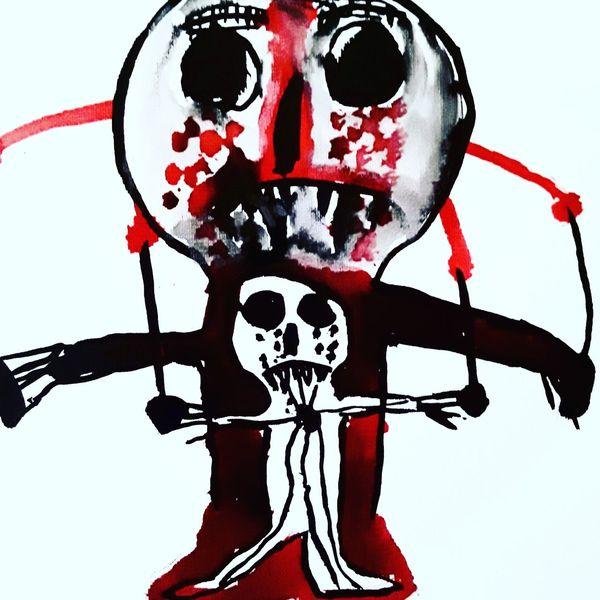 Rot, Schmerz, Kultur, Malerei
