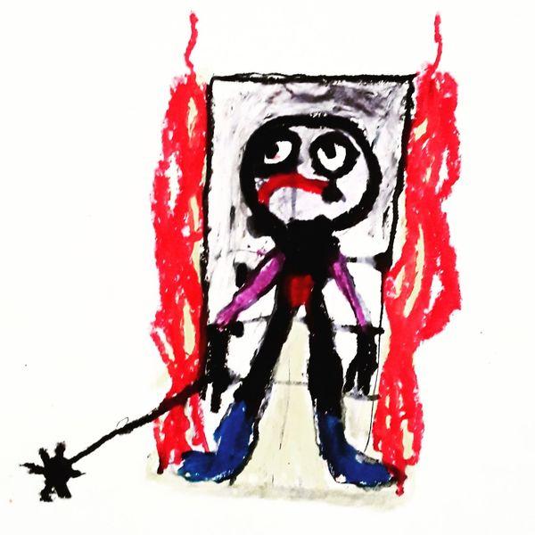 Psychiatrie, Artbrut, Outsider art, Malerei, Hell und dunkel