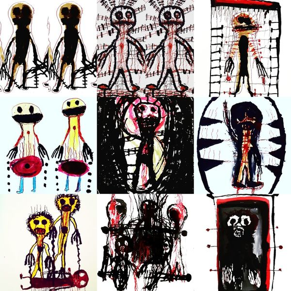 Kuckucksnest, Artbrut, Outsider art, Malerei, Zusammenstellung