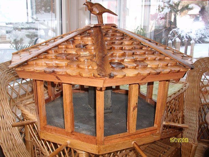 bild sch ne vogelhaus kunsthandwerk holz handarbeit von juttajupp bei kunstnet. Black Bedroom Furniture Sets. Home Design Ideas