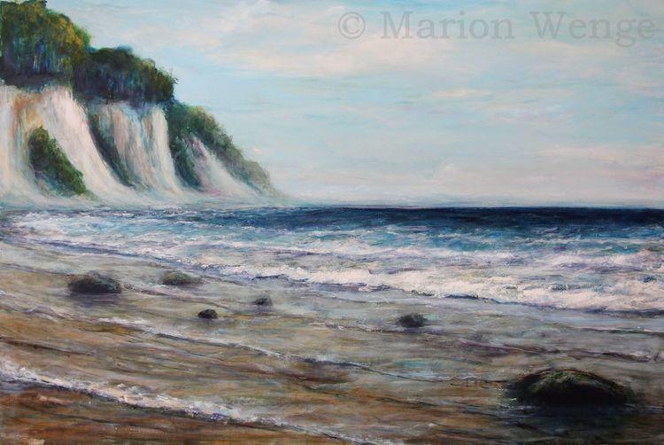 Licht, Welle, Brandung, Malerei, Meer, Küste