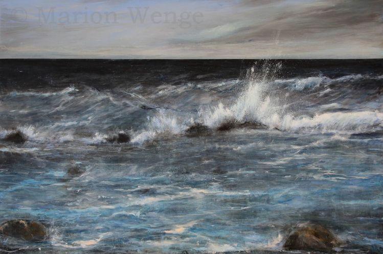 Himmel, Welle, Wasser, Meer, Wolken, Landschaft