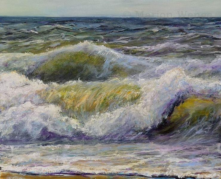 Malen, Brandung, Acrylmalerei, Malerei, Licht, Meer