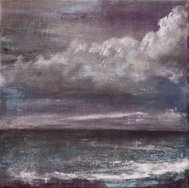Meer, Landschaft, Himmel, Wasser, Wolken, Malerei