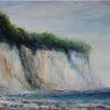 Malerei, Küste, Brandung, Acrylmalerei