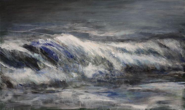 Meer, Brandung, Welle, Wasser, Malerei