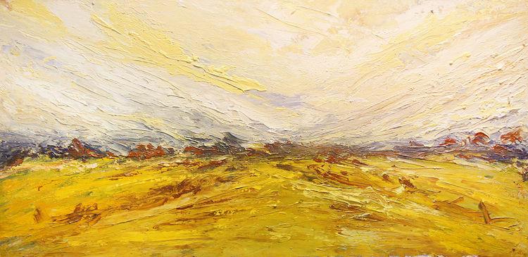 Ruhe, Feld, Gelb, Horizont, Warm, Landschaft