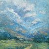 Weg, Landschaft, Berge, Wolken