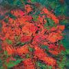 Abstrakt, Blüte, Acrylmalerei, Malerei