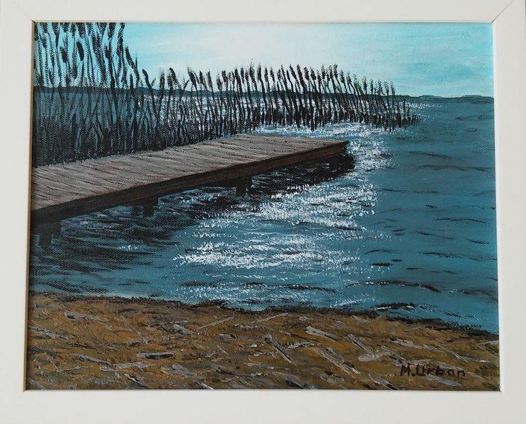 Wasser, Strand, Scharmützelsee, Malerei