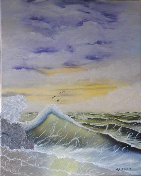 Welle, Meer, Natur, Sturm, Malerei