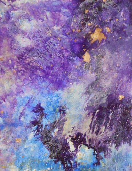 Bild die farbe lila malerei acrylmalerei abstrakt von for Die farbe lila