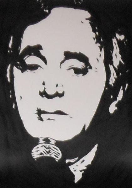 Malerei, Charles aznavour, Schwarz weiß, Acrylmalerei, Portrait