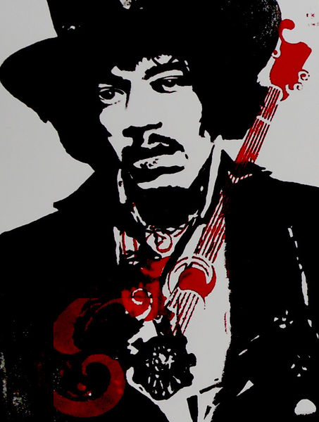 Gitarre, Acrylmalerei, Malerei, Jimi hendrix, Portrait, Hendrix