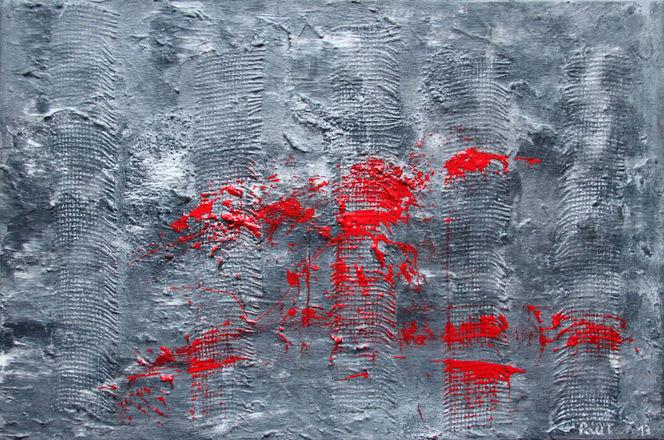 Lanzarote, Reise, Unterwegs, Grau abstrakt, Malerei