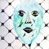 Gesicht, Alt, Ballon, Aquarellmalerei