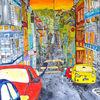 Wuppertal, Straße, Häuser, Malerei
