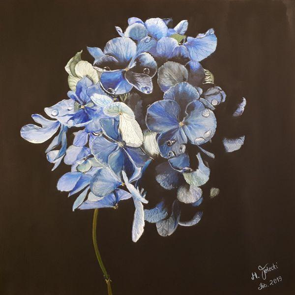 Blau, Blumen, Malerei