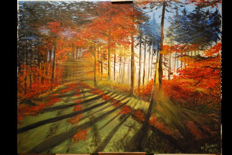Malerei, Herbstwald