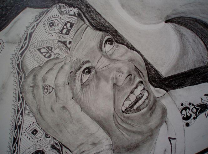 Hand, Tuch, Gesicht, Portrait, Zeichnungen