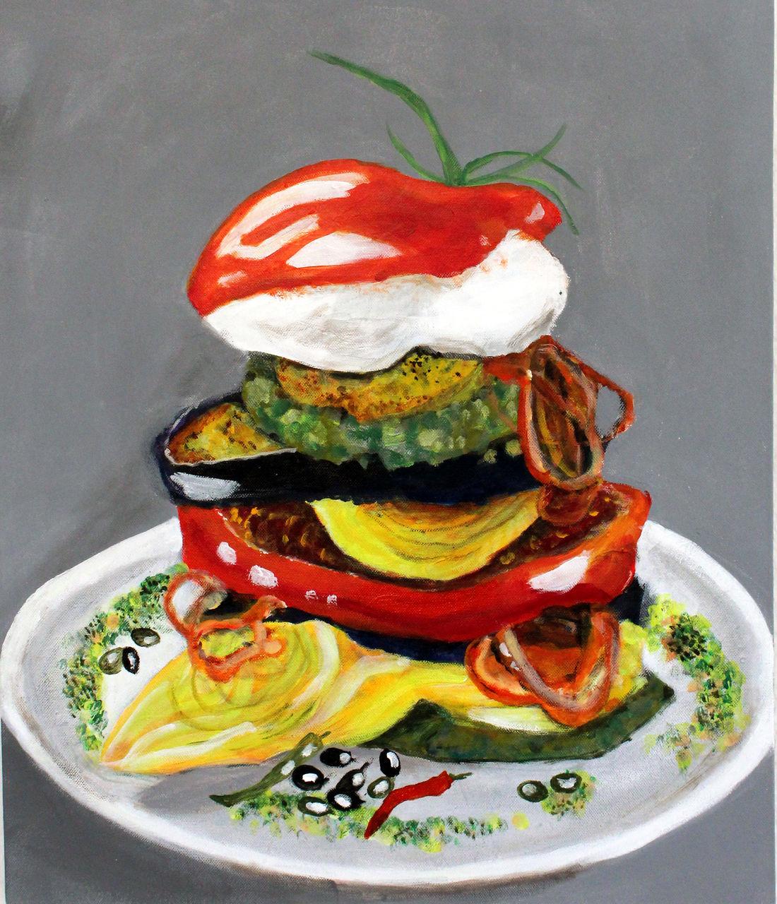 Bild: Gemüseburger, Pflanzen, Natur, Gemüse von ambereye bei KunstNet