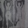 Schabetechnik, Grau, Frau, Figurismus