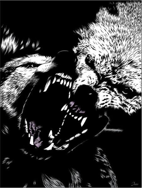 Furcht, Angst, Wolf, Illustrationen
