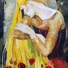 Frau, Gold, Portrait, Haare