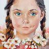 Kinder, Portrait, Kinderportrait, Blumen