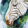 Zebra, Tiere, Aquarellmalerei, Aquarell