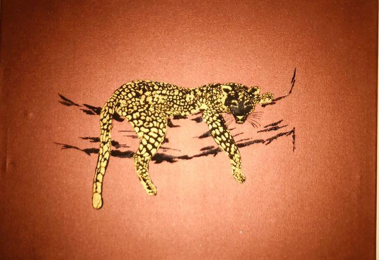 Tiere, Wald, Wildkatze, Malerei