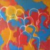 Gruppe, Gemeinschaft, Menschen, Malerei