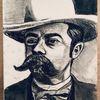 Portrait, Kohlezeichnung, Whisky, Jack daniels